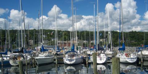 Boats in the harbor on Seneca Lake