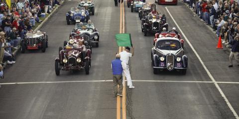 Vintage racing in downtown Watkins Glen