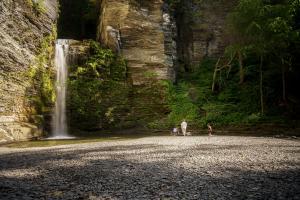 Eagle Cliff Falls at Havana Glen Park in Montour Falls