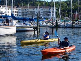 Paddling on Seneca Lake