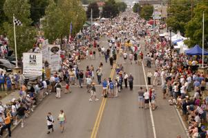 Crowds gather at the Grand Prix Festival