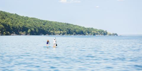 Paddle boarding on Seneca Lake