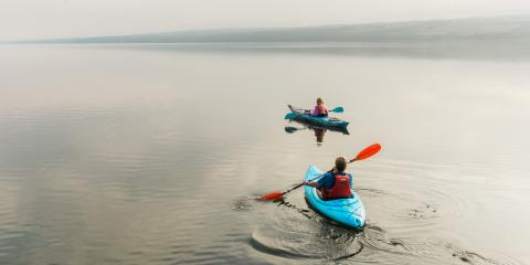 Paddling on Seneca Lake