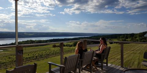 Views of Seneca Lake from Atwater Estate Vineyards