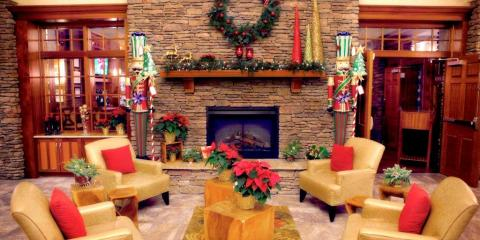 Harbor Hotel decorated for Christmas