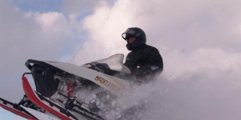 Snowmobiling and enjoying winter fun!