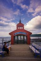 Iconic pier house at Seneca Lake in Watkins Glen