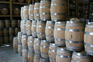 Barrels waiting for wine