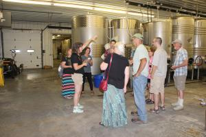 Members touring Lakewood Vineyards