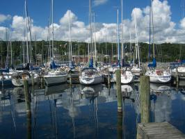 Sailboats in Seneca Harbor