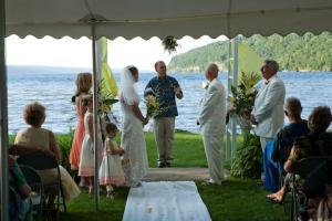 A beautiful lakeside wedding on Seneca Lake in the Finger Lakes.