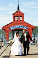 The iconic Seneca Lake pier house is perfect for pictures