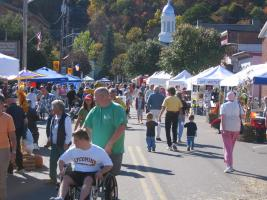 Montour Falls during the Falls Harvest Festival